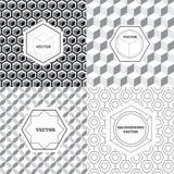 Vectorreeks grafische ontwerpelementen, de malplaatjes van het embleemontwerp Stock Afbeelding