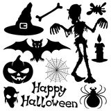 Vectorreeks. Halloween-silhouetten. Royalty-vrije Stock Foto