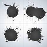 Vectorreeks inktplonsen, inktvlekken Ploeter inzameling Illustratie vector illustratie