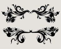 Vectorreeks kalligrafisch element Royalty-vrije Stock Afbeelding