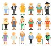 Vectorreeks karakters in een vlakke stijl Stock Afbeelding