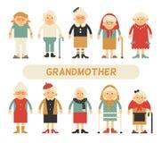 Vectorreeks karakters in een vlakke stijl Stock Foto