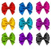 Vectorreeks kleurrijke decoratieve bogen Stock Foto