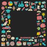 Vectorreeks krabbel bedrijfspictogrammen Stock Foto's