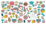 Vectorreeks krabbel bedrijfspictogrammen Stock Fotografie