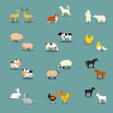Vectorreeks Landbouwbedrijfdieren Royalty-vrije Stock Foto