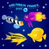 Vectorreeks leuke mariene aquariumvissen Deel 4 Stock Fotografie