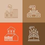 Vectorreeks lineaire pictogrammen en emblemen Royalty-vrije Stock Afbeeldingen