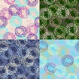 Vectorreeks moderne geometrische abstracte achtergrond Royalty-vrije Stock Afbeeldingen
