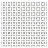 Vectorreeks Naadloos patroon met gestippelde cirkels die textuur St herhalen Royalty-vrije Stock Afbeelding
