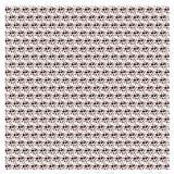 Vectorreeks Naadloos patroon met gestippelde cirkels die textuur St herhalen Stock Foto's