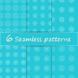 Vectorreeks naadloos patroon met sneeuwvlokken minimalistisch Royalty-vrije Stock Foto's