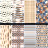 Vectorreeks Naadloze Geometrische Patronen Stock Fotografie