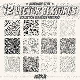 Vectorreeks naadloze patronen Inzameling van minimalistic texturen stock illustratie