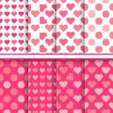 Vectorreeks naadloze romantische liefdepatronen stock illustratie