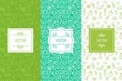 Vectorreeks ontwerpelementen, naadloze patronen en achtergronden royalty-vrije illustratie