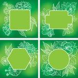 Vectorreeks organische natuurlijke kaders Stock Foto's