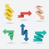 Vectorreeks origamidocument Pijlen stock illustratie