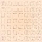 Vectorreeks roterende kubussen Royalty-vrije Stock Foto