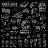 Vectorreeks snel voedsel royalty-vrije illustratie