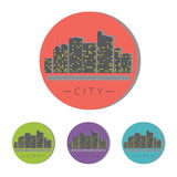 Vectorreeks Stadspictogrammen Royalty-vrije Stock Afbeelding
