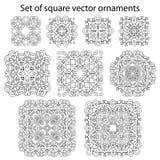 Vectorreeks symbolen Abstract cirkelornament Decoratieve retr Royalty-vrije Illustratie