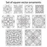 Vectorreeks symbolen Abstract cirkelornament Decoratieve retr Vector Illustratie