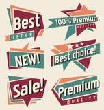 Vectorreeks uitstekende banners en etiketten Royalty-vrije Stock Afbeelding