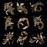 Vectorreeks uitstekende decoratieve elementen Royalty-vrije Stock Foto