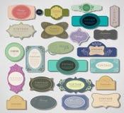 Vectorreeks uitstekende etiketten Royalty-vrije Stock Fotografie
