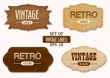 Vectorreeks uitstekende etiketten of emblemen Stock Foto