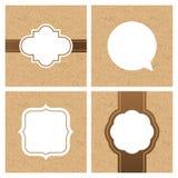 Vectorreeks uitstekende kaders en banners met ambachtdocument textuur Royalty-vrije Stock Afbeelding