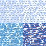 Vectorreeks van artistieke achtergrond met schetsgolven Stock Afbeeldingen