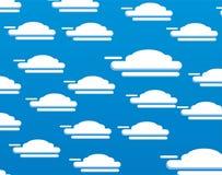 Vectorreeks van blauwe wolk als achtergrond Stock Foto