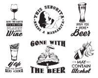 Vectorreeks van citaat typografische achtergrond stock illustratie