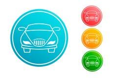 Vectorreeks van de auto de automobiele cirkel Royalty-vrije Stock Foto's