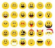Vectorreeks van emoji Royalty-vrije Stock Fotografie
