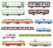 Vectorreeks van geïsoleerd openbaar vervoer Royalty-vrije Stock Foto's