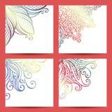 Vectorreeks van Gevormde Banner Royalty-vrije Stock Foto's