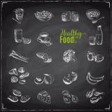 Vectorreeks van gezond voedsel stock illustratie