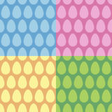 Vectorreeks van het Paasei de naadloze patroon Royalty-vrije Stock Fotografie