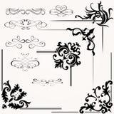 Vectorreeks van kalligrafisch ontwerp Stock Afbeeldingen