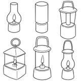 Vectorreeks van lantaarn vector illustratie