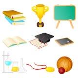 Vectorreeks van onderwijssymbool Stock Fotografie