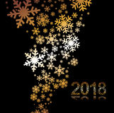 Vectorreeks van sneeuwvlokkenachtergrond Royalty-vrije Stock Fotografie