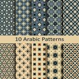 Vectorreeks van tien Arabische traditionele patronen vector illustratie