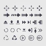 Vectorreeks van verschillend vectorpijlenteken, symbool Royalty-vrije Stock Afbeelding