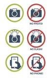 Vectorreeks verbodspictogrammen Stock Foto's