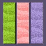Vectorreeks verticale banners voor Lentetijd Stock Afbeelding