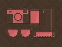 Vectorreeks voorwerpen in hipsterstijl Stock Fotografie